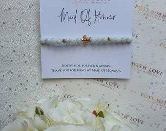 Maid Of Honour Gift| Bridesmaids Jewllery| Bridesmaids Bracelet| Wedding Gift| Maid Of Honour Bracelet