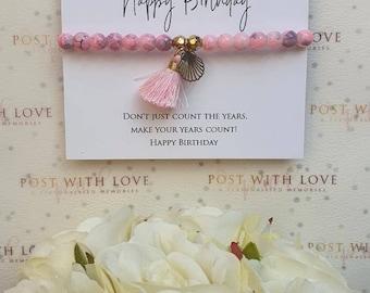 Happy Birthday Bracelet, Happy Birthday Gift, Birthday Gift, Bracelets,