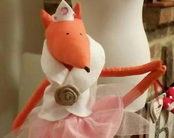 Rosie, ballerina fox plush toy