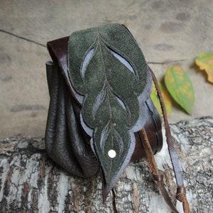 GreyPurple Makramee Boho Leather Festival Hippie Gypsi MTO Amethyst Mandala Hip Bag Belt Bag