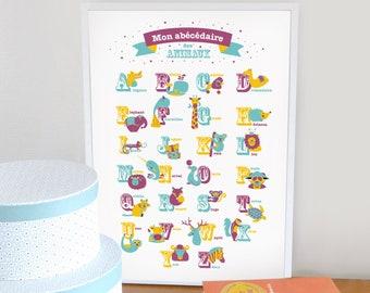 Animal alphabet, A3 poster
