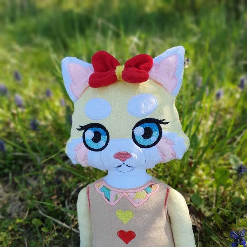 Janett red panda girl Doll 4 SIZES Plushie Machine Embroidery Digitized design PATTERN ITH Stuffie
