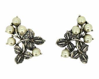 Jewelcraft 1960s Vintage Leaves and Berries Earrings