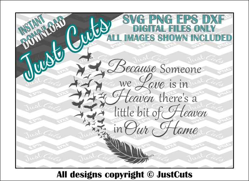 Heaven in our home svg heaven svg sentimental png eps image 0