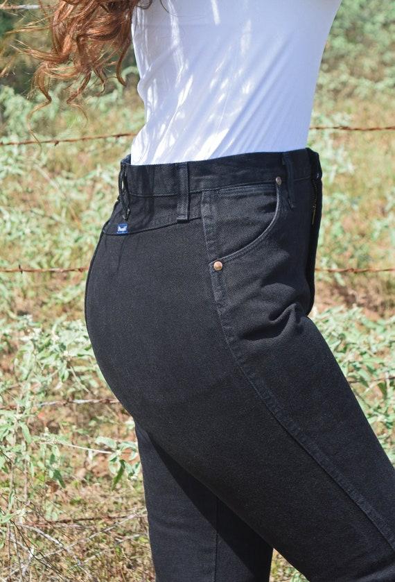 Vintage Black Bareback Wrangler Jeans, Vintage Wra