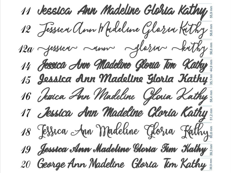 Wedding place cards laser cut names for wedding table decoration custom name place cards