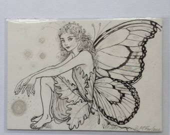 Fairy, ACEO card, original drawing