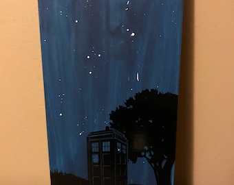 Customizable Doctor Who Inspired Tardis Sign With Option to Add Favorite Doctor Who Quote