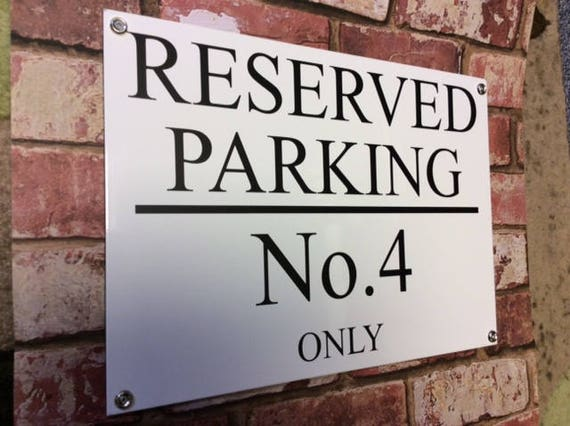 PERSONALISED PRIVATE RESERVED NO PARKING METAL SIGN WITH SPIKES 25CM X 17CM
