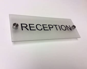 Office door signs name plate personalised plaque 200mm x 70mm