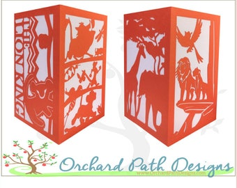 Lion King Paper Lantern Luminary for Disney themed wedding, party, birthday, shower, centerpieces, decoration, Simba, Naala, Pumba, Timon