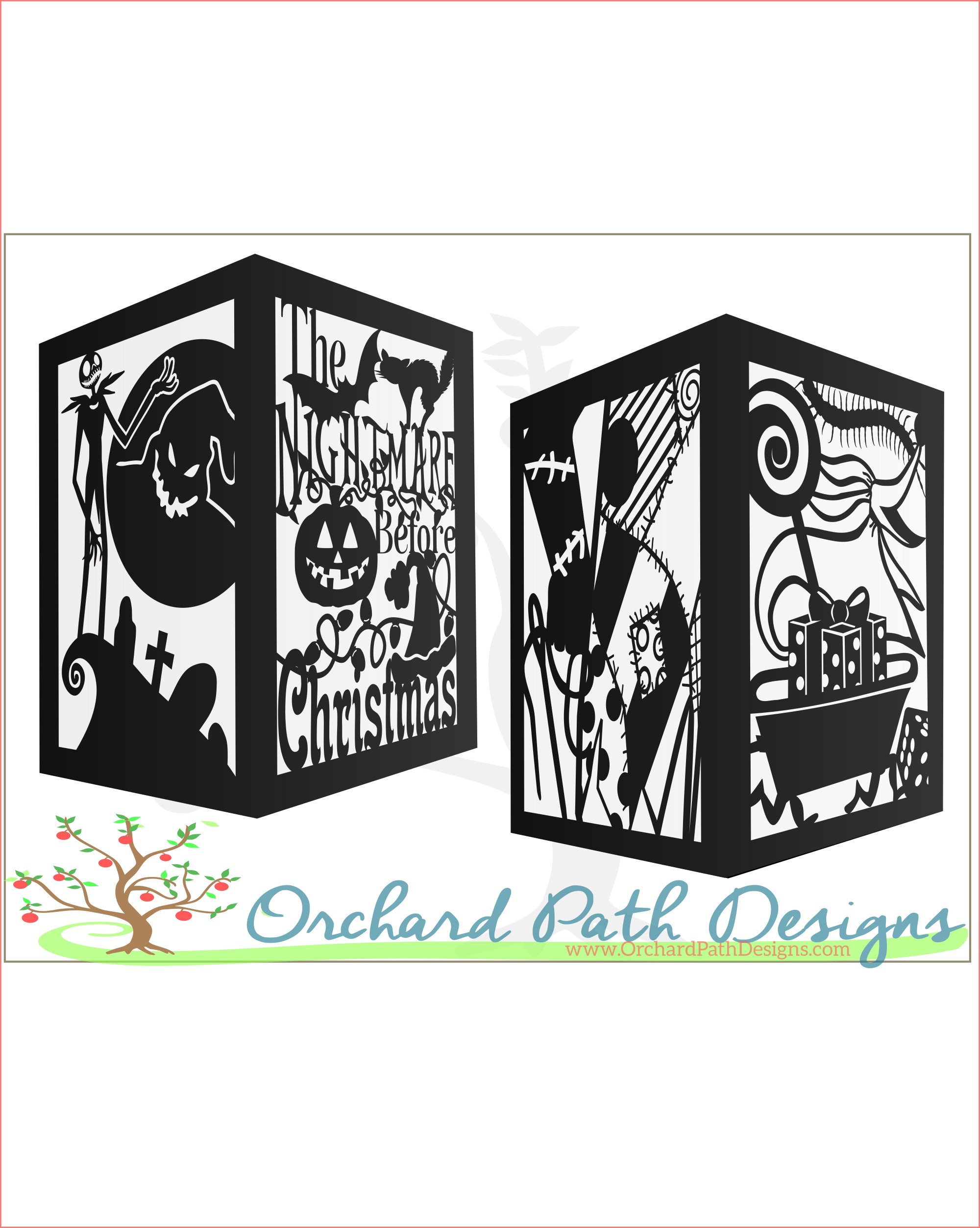 Nightmare Before Christmas Themed Paper Lantern For Wedding