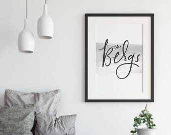 Custom Lettered Name Print