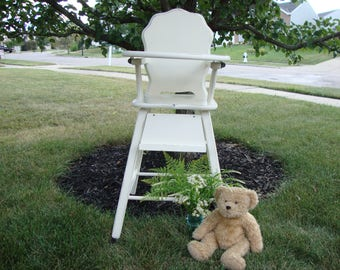 Painted High Chair Etsy