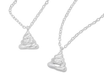 Emoji® Poop Necklace & Bracelet Set