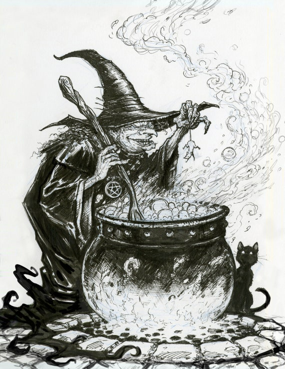 Witch and the Cauldron | Etsy