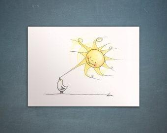 """Postcard """"Möve + Sun"""""""