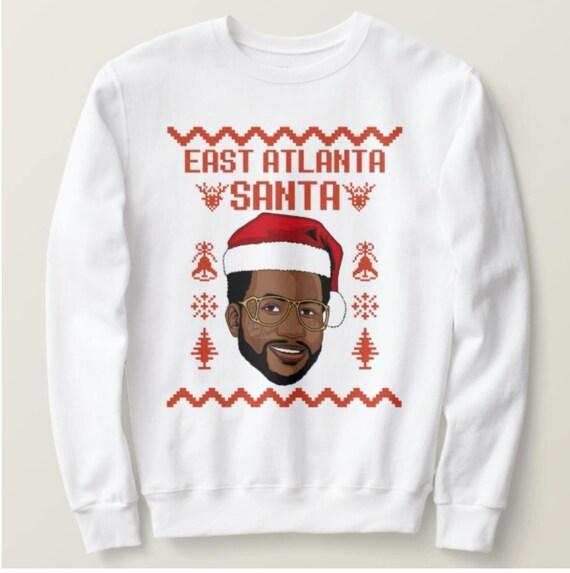 East Atlanta Santa Christmas Sweater Holiday Gift Etsy