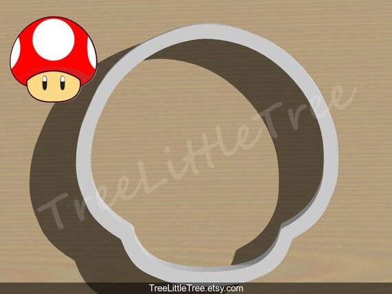 Mario Mushroom Ausstecher Super Mario Ausstecher 3d Etsy
