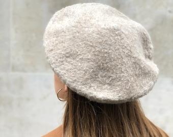 9451176e1ee1b Vintage beige wool-blend beret