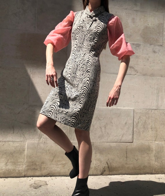 Vintage Calvin Klein zebra print dress