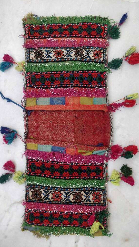 Vintage Afgan saddle bag, Afgani Gypsy saddle bag,