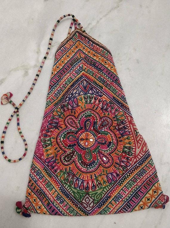 Beautiful hand Embroidered Rabari bag, Vintage Rab