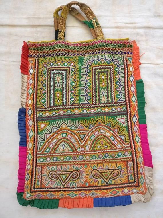 Vintage Rabari bag, Banjara Embroidered bag, India