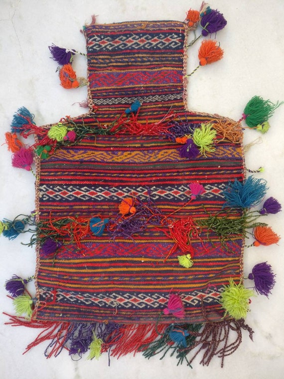 Vintage afgani salt bag, afgan nomadic bag, Boho b