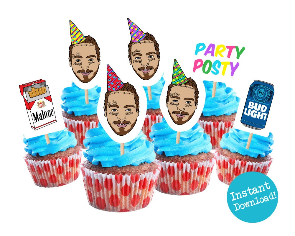 Post Malone Cupcake Toppers Printable
