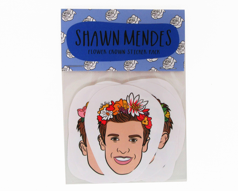 Shawn mendes flower crowns 8 piece sticker set shawn etsy zoom izmirmasajfo