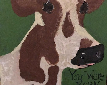 Painted Cow Wall Decor