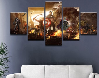 Ironman Captain America Large Poster Wall Art Print A0 A1 A2 A3 Maxi