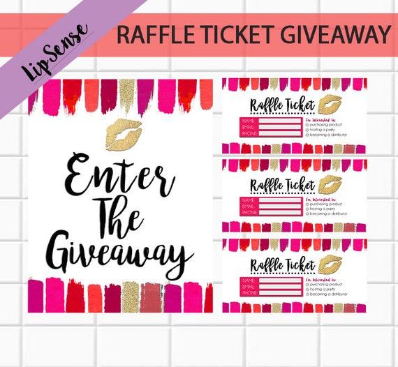 giveaway raffle ticket