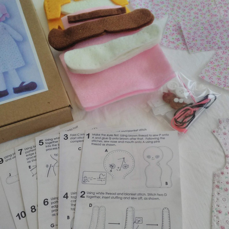 Make Your Own Worry Doll Kit Make Your Own Doll Kit Sew Your Own 16.5 Doll Kids Doll Making Set. Worry Doll Craft Kit DIY Doll Kit
