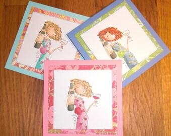 Handmade Mini Note Cards, set of three (UG2)