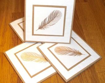 Handmade Elegant Mini Note Cards, set of four