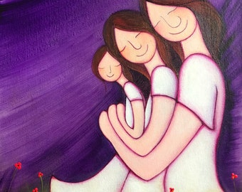 Las mujeres de mi vida, reproducción de Nanni Art.