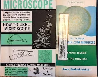 Sears, Roebuck and Co vintage Power Zoom  Microscope manual