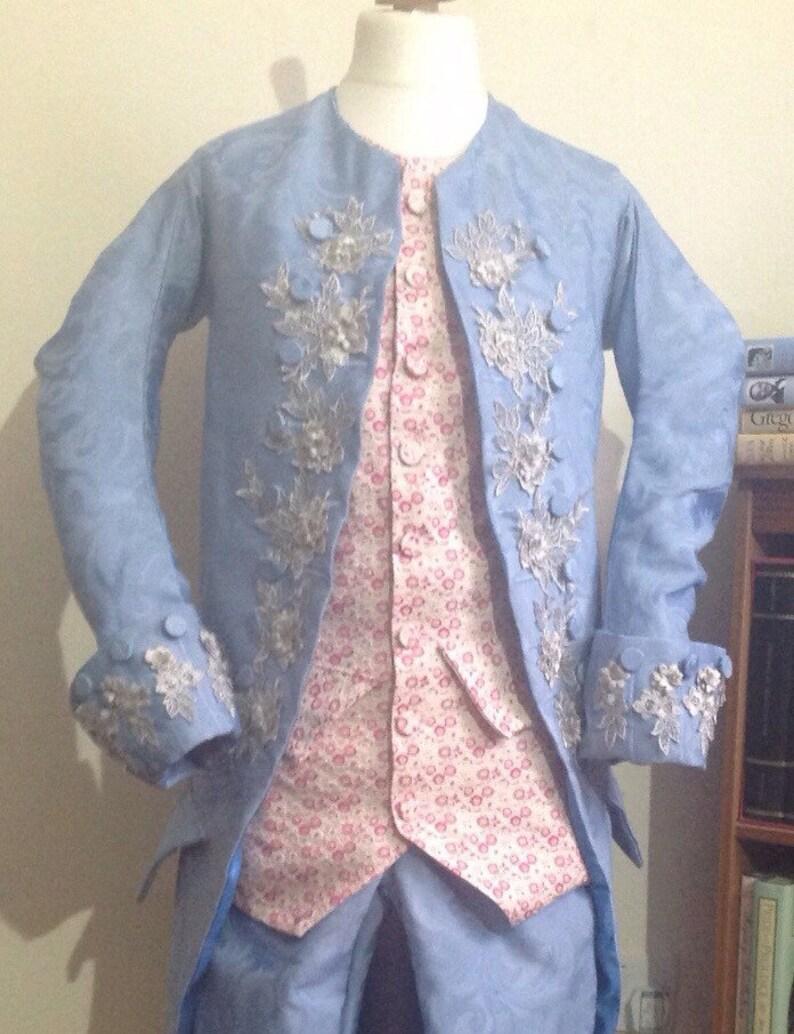 Mens Mid Century Georgian Tailcoat Waistcoat Breeches Etsy
