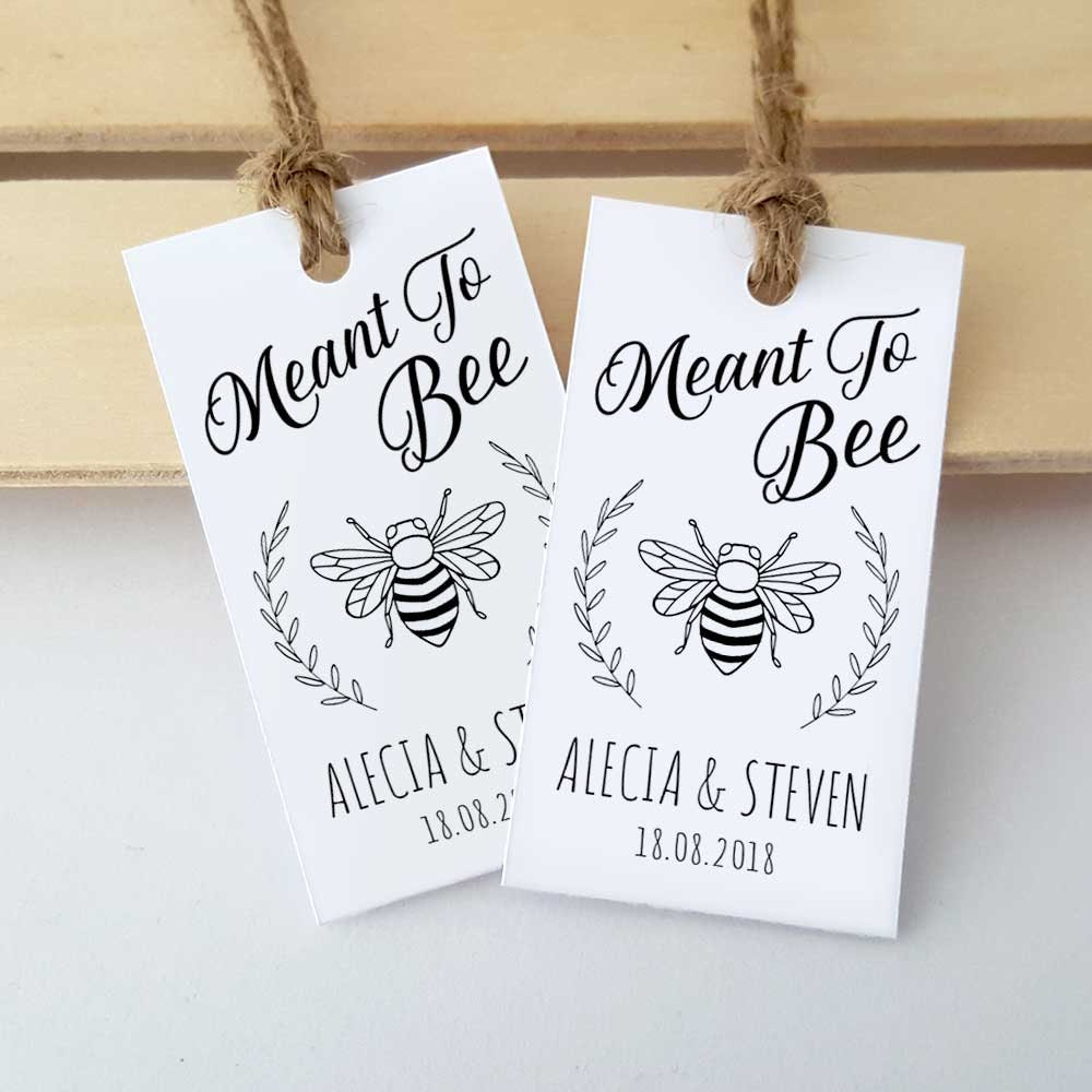 Gift Tags For Wedding Favours Personalised Gift Tags Meant To Bee