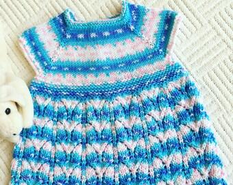 0 - 3 months knitted dress