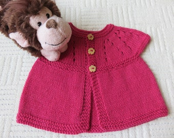 0 - 3 months baby girls cardigan