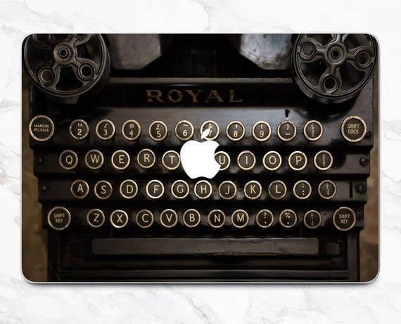 typewriter macbook pro skin typewriter decal macbook 2017 skin etsy rh etsy com