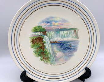 "Vintage Niagara Falls Prospect Point Souvenir Plate - Cronin Made in USA - 9"""