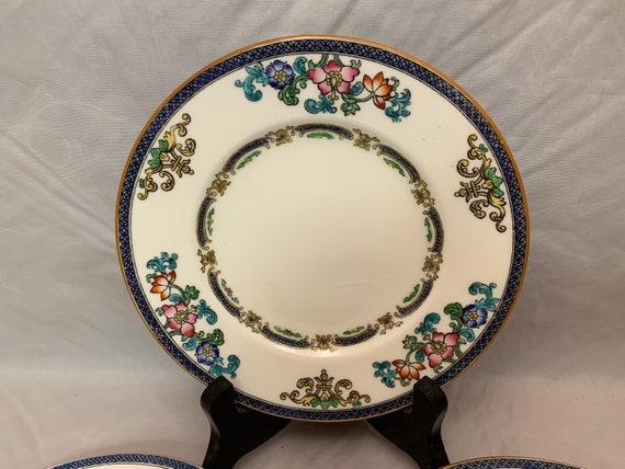 Antique China Pattern B898 Minton/'s China 3 Dinner Plates 10 ca 1920s