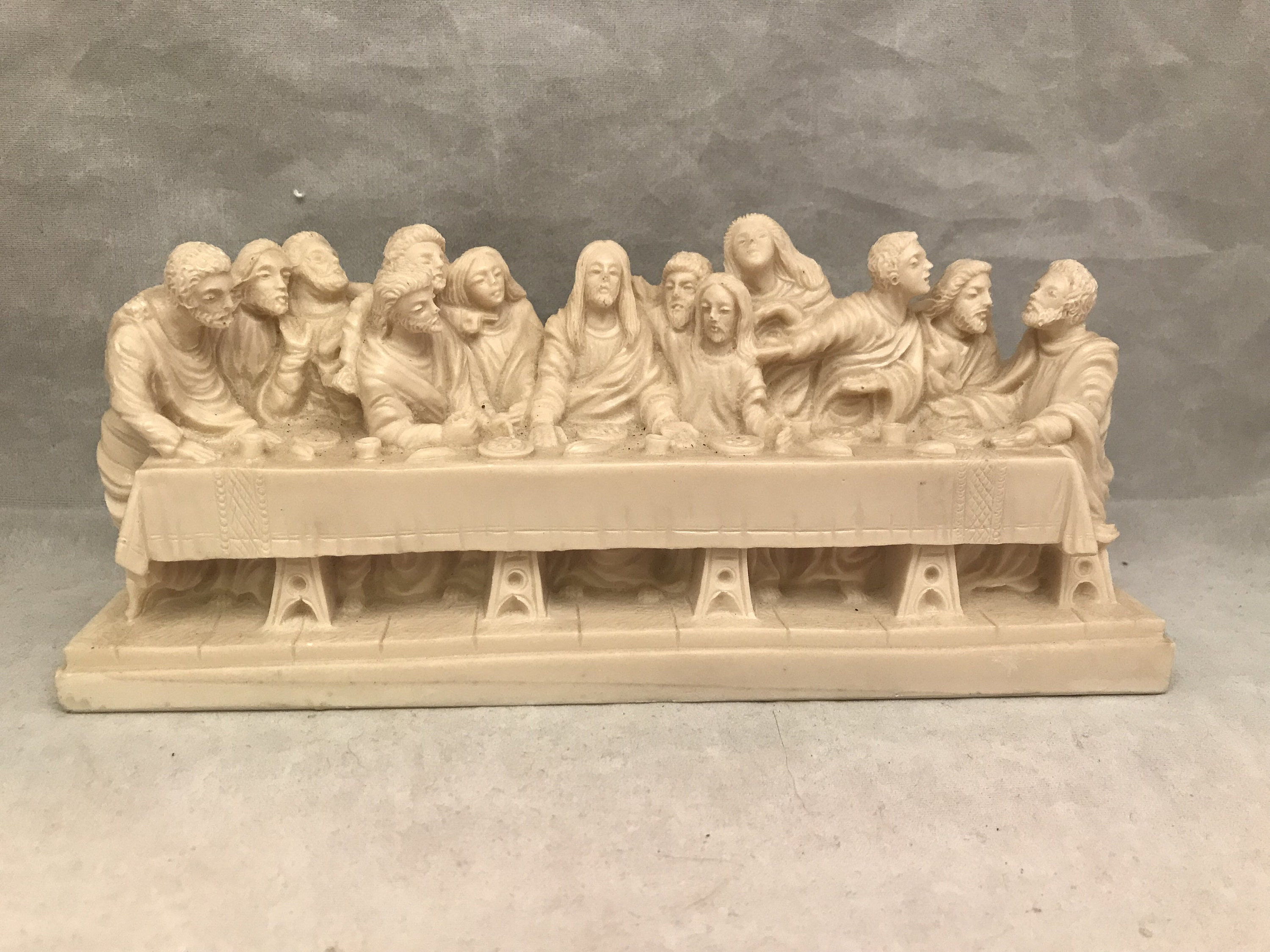A Giannetti Last Supper Carving / Statue Resin Vintage | Etsy