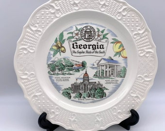 """Georgia State Plate - The Empire State of the South - 10.25"""" - Stone Mountain"""