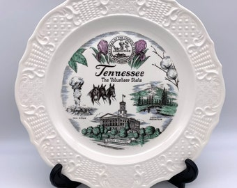 """Tennessee State Plate - The Volunteer State - 10.25"""" Oak Ridge, Lookout Mountain"""