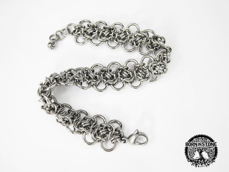 Chain maille bracelet Womens bracelet Steampunk bracelet Chainmaille bracelet Mens bracelet Best gift For him For her Love gift For mom